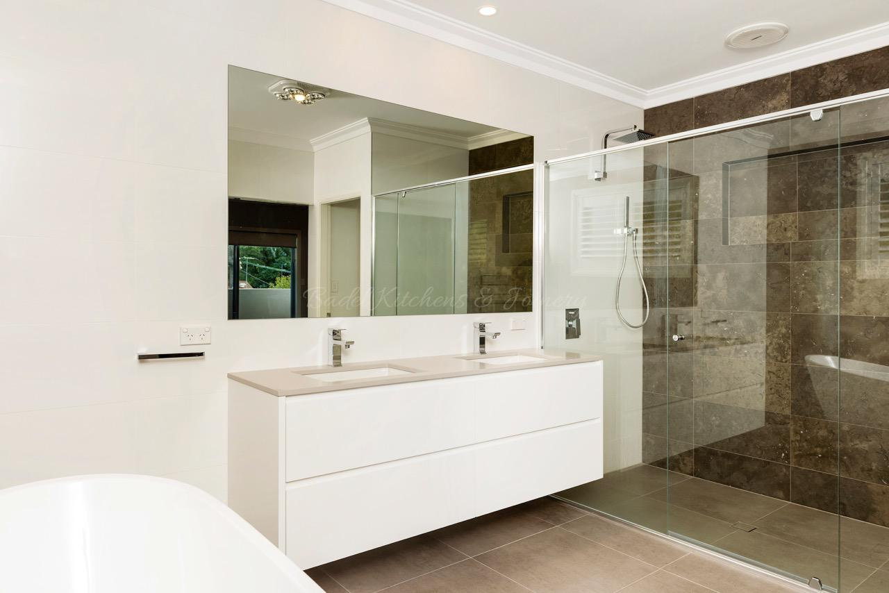Modern style bathroom. Bathroom Renovations Sydney   Badel Kitchens   Joinery