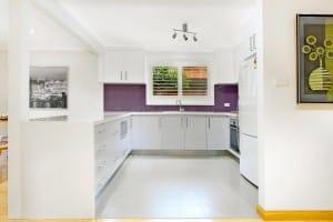 Open plan style kitchen