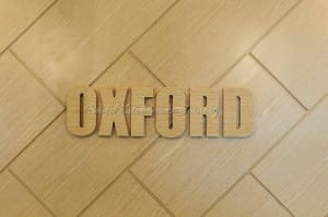 Oxford clothing shop wall logo