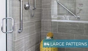large tile patterns bathroom remodelling tips