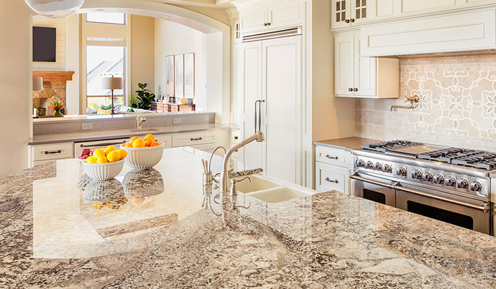 popular granite kitchen countertop