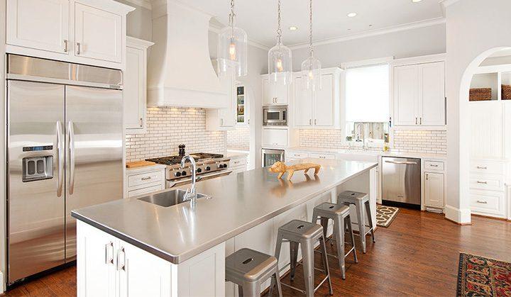 popular stainless steel kitchen countertop