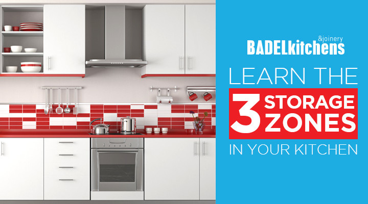 learn the 3 storage zones in your kitchen