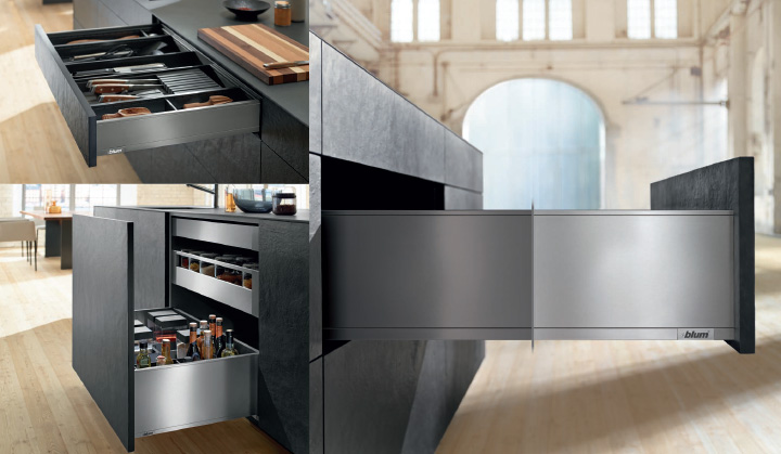 full extension drawers kitchen features