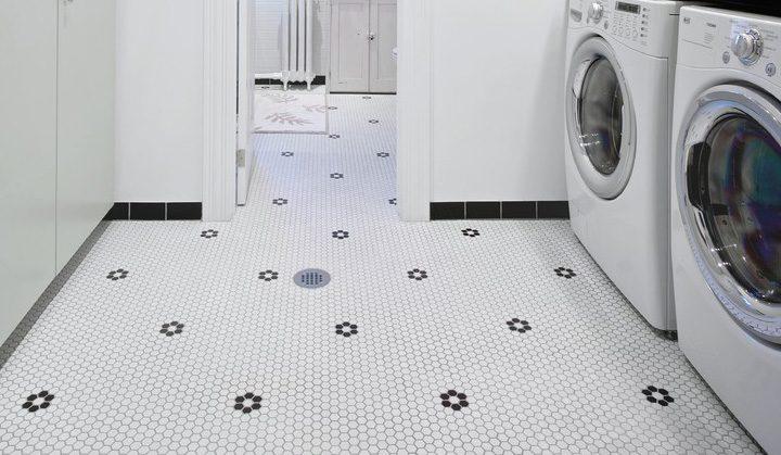 Tiled Floors And Floor Drain