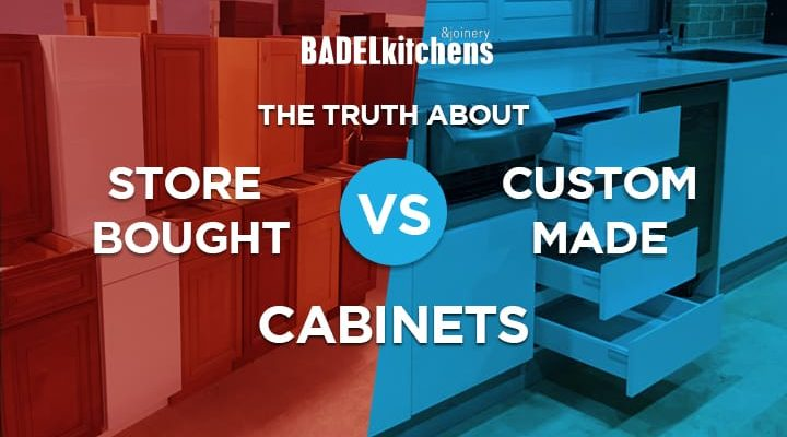 store bought vs custom made cabinets
