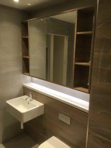 display suite northwest bathroom sink and mirror