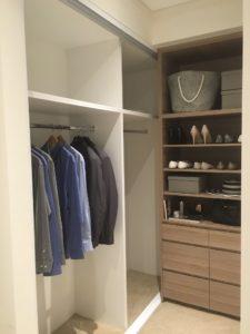 display suite northwest walk-in closet details