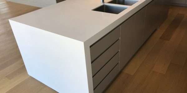 Milson Point home custom kitchen island dual sink