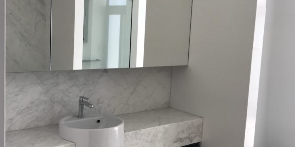 Milson Point home custom bathroom vanity sink