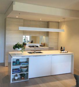 display suite northwest kitchen island view