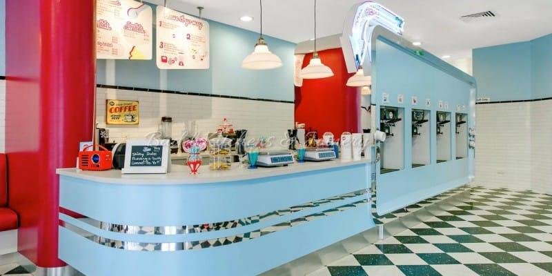 Frostbite Frozen Yoghurt retail shop built by Badel Kitchens