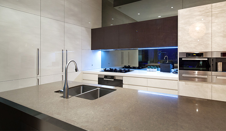 popular quartz kitchen countertop
