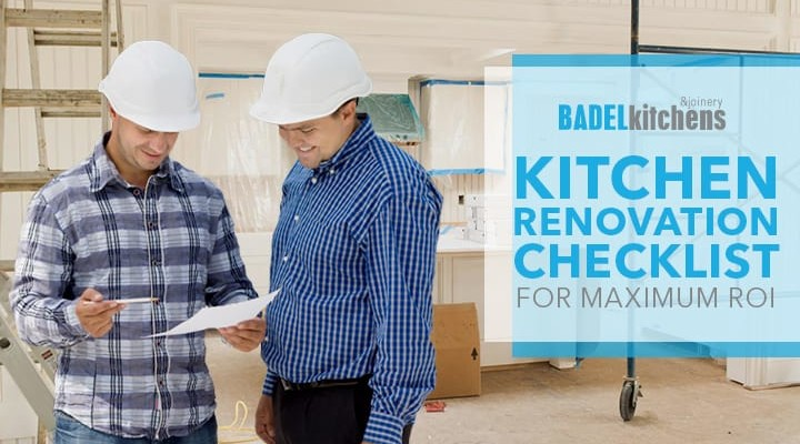 kitchen renovation checklist for maximum roi