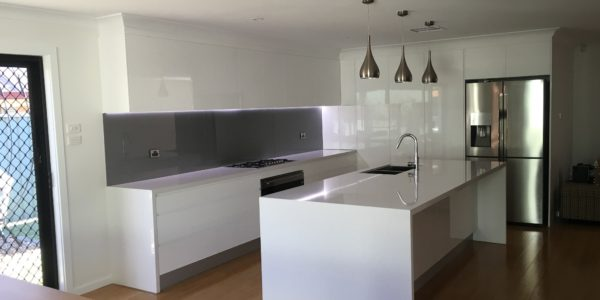 glenmore park minimalist kitchen project