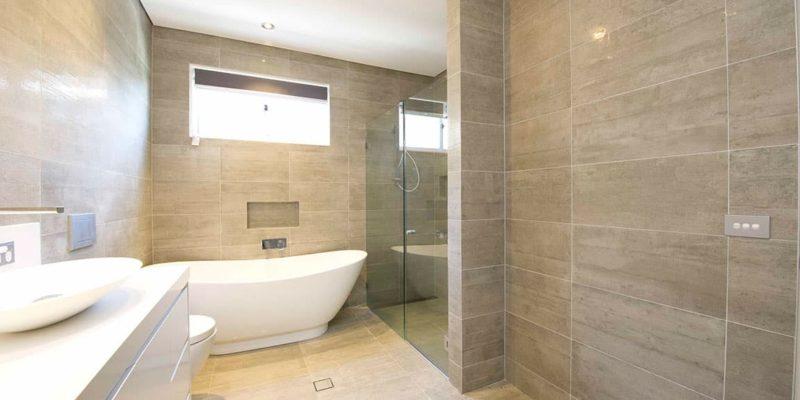 Norwest home bathroom tile finish