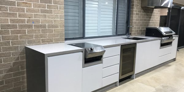 custom joinery for outdoor kitchen