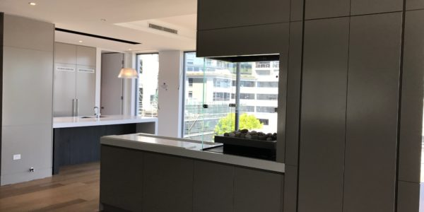Milson Point home custom open kitchen view
