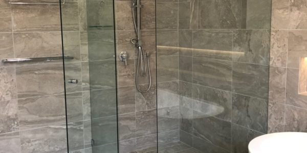 custom shower enclosure for bathroom reno