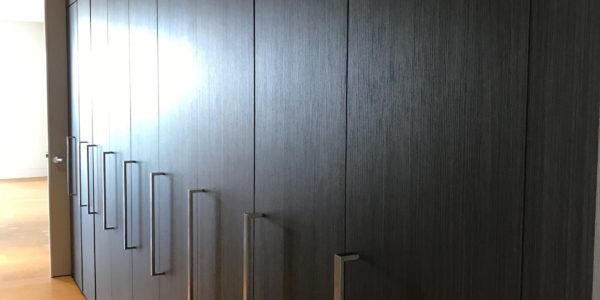 dark custom cabinet for a project in Sydney